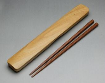 Lacquer Wooden Chopsticks and Wooden Chopsticks Box