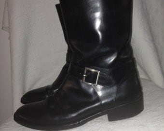 Martine Sitbon Men's Boots Black Leather