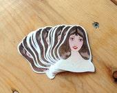 Glamorous 70s Shelley Duvall Sticker