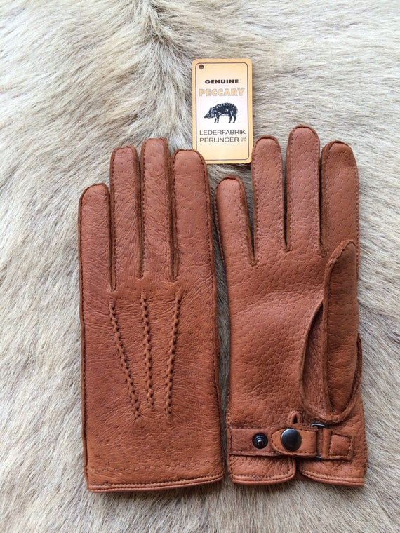 Peccary Leather Gloves With Cashmere Lining Men S Winter