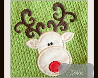 Reindeer Applique - Christmas Applique - Reindeer Embroidery - Christmas Embroidery - Holiday Applique - Holiday Embroidery