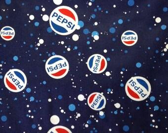 One Half Yard of Fabric Material - Pepsi