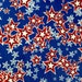 SALE - One Half Yard Piece of Fabric Material - Patriotic Star Collage
