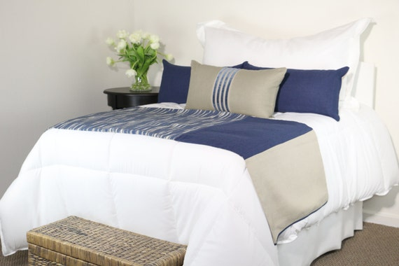 blue grey khaki modern bedding set bed scarf and 3