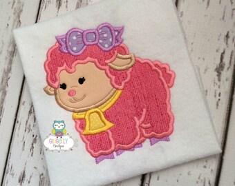 Girl Lamb with Bow Shirt or Bodysuit, Girl Lamb Shirt, Girl Easter Shirt, Girl Easter Egg Hunt Shirt, Easter Shirt for Girl, Girl Easter