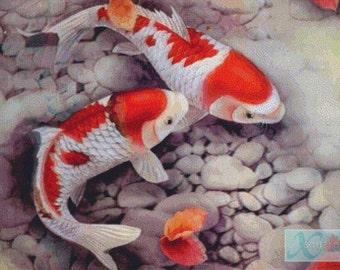 Koi Fish PDF Cross Stitch Pattern