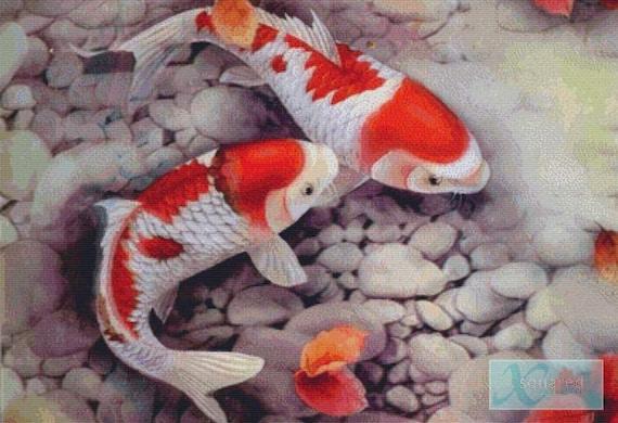 Koi fish pdf cross stitch pattern for Koi fish patterns