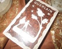Very OLD//  Antique// 1800's// Guerlain Perfume Box// Ivory Silk Lining// BOUDOIR// Wonderful Condition!