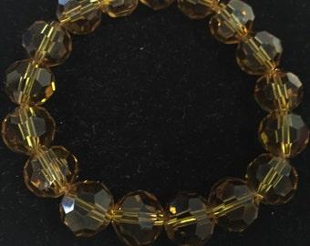 Gold Glass Bead Bracelet
