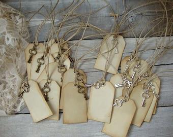 Wedding Wish Tree Tags,Wish Tree Tags,Wedding Tags,Bride and Groom Tags,Wedding Favor Tags,Large tags,skeleton key,wedding gift