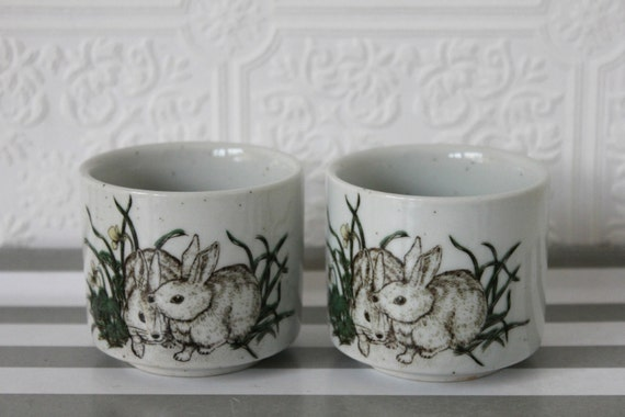 Items Similar To Vintage Japanese Tea Cups, Set Of Two