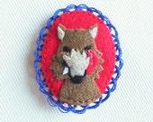 Big Bad Wolf Embroidered Felt Brooch