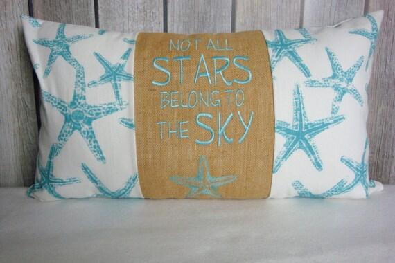 Star Fish Pillow. Nautical Pillow Cover. Pillow Cover. Sea Creatures. Beach Decor. Beach Pillow