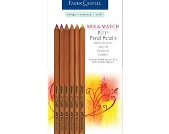 Red/Yellow Faber Castell PITT Pastel Pencils 6pc