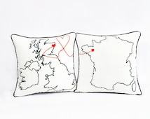 custom couple pillow covers-decorative throw pillow 16x16,18x18,20x20,24x24,22x22,26x26-world map couple decor-state design-valentines gift