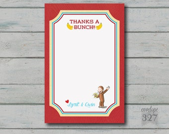 Curious George Inspired Thank You Card