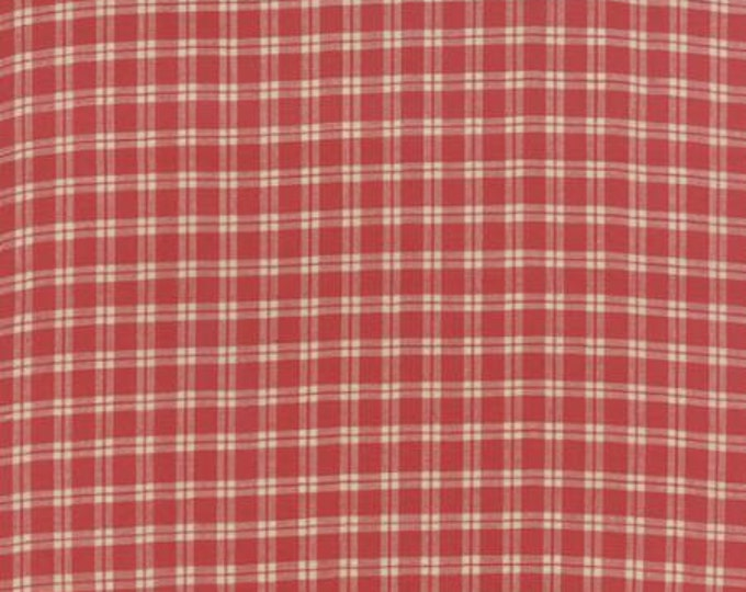 Petite Woven Silky Cotton Plaid Rouge - 1/2yd