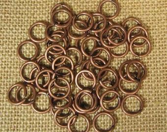 12mm Antique Copper Jump Rings - Choose Your Quantity