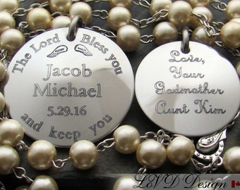 Baptism Rosary, Baptism Gift for Godparents, Godparents Gift, Personalized Rosary, Christening Gift, Baptism Gift, Christening Rosary