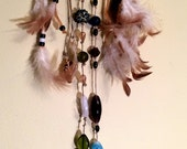 Dream Catcher Sea Glass Gypsy Bohemian Style Earth Colors Bead Mobile Lake Erie