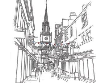 Green Street, Bath Limited Edition Print