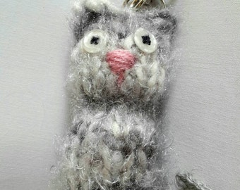Keychain fluffy cat