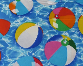 Per Yard, Just Beachy Balls Fabric From Benartex