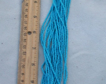 Turquoise blue beads , seed beads , size 11/0 seed beads