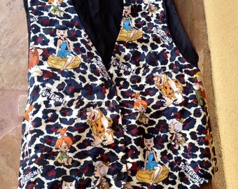 Flintstones Vest,  Fred Flintstone Vest , Wilma Flintstone Vest, Barney Vest, Cartoon Character VEst, Flintstone Fashion, Fun Hipster Vest,