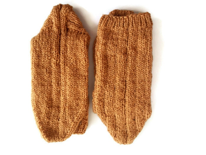 Knitted socks wool long socks hand knit slippers by ...