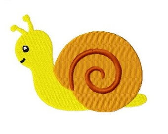 Embroidery Design Snail 4