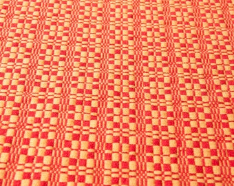 Cotton Linen Handwoven Table Runner in Orange and Yellow