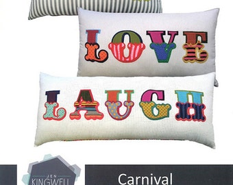 Carnival Applique Alphabet Pattern - Jen Kingwell - Jen Kingwell Designs - JKD 5064