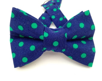 Royal blue polka dot bow tie, Royal blue bow tie, polka dot bow tie, blue polka dot tie,  blue bow tie, bow tie, kids polka dot tie,