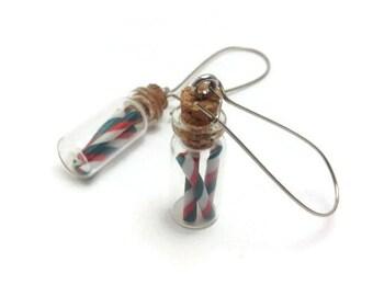 Candy Earrings, Bottle Jewelry, Cute Earrings, Christmas Jewelry, Christmas Earrings, Handmade Jewelry, Gift Ideas, Gifts for Her