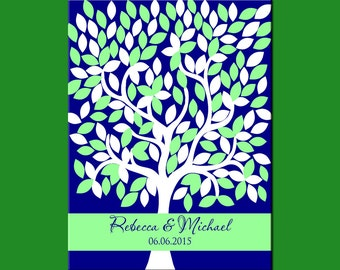Wedding Tree for 172 Guest, Guest Signature Tree, Guestbook Alternative, Wedding Signature Tree, Wedding Tree Print, Guest Book Tree