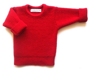 Babies/Children's knitted lambswool crew neck sweater/jumper/cardigan/toddlers