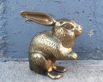 Vintage Brass Bunny