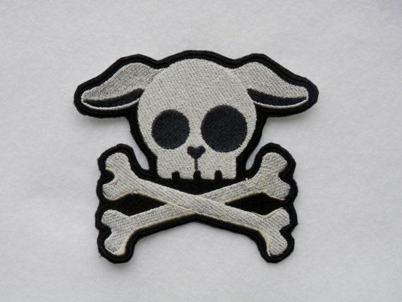 Pup Skull Iron on Patc...