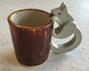 Handmade Squirrel Mug