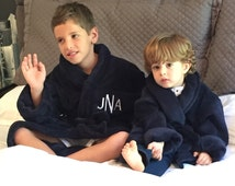 ON SALE! Children's Bathrobe, Boy's Robe, Girl's Robe, Kid's Bathrobe Size: Medium or Large - Monogrammed Robes by Wrapped in a Cloud