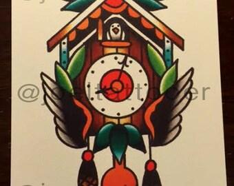 Mini Print Cuckoo Clock