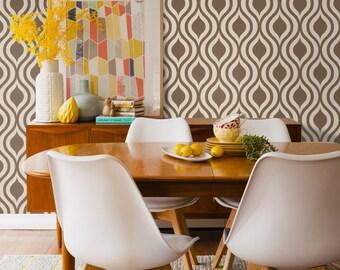 Retro style self-adhesive vinyl Wallpaper - Ogee pattern sticker C022