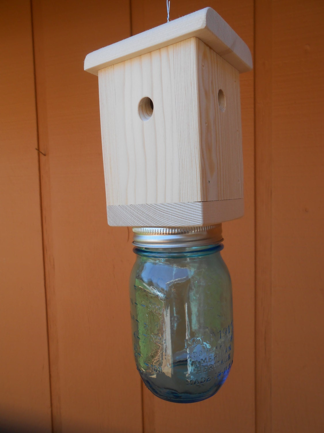 1 Carpenter Bee Trap Wood Boring Bee Trap By Recyclewoodcrafts