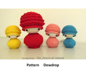 Bb Dolls Crochet Pattern : Pattern Snowflake kokeshi doll amigurumi crochet mini winter