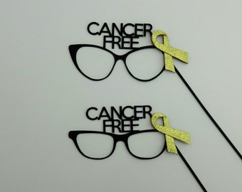 Cancer Survivor Photo Booth Props  r Cancer Free Glasses Cancer awareness Photo Booth