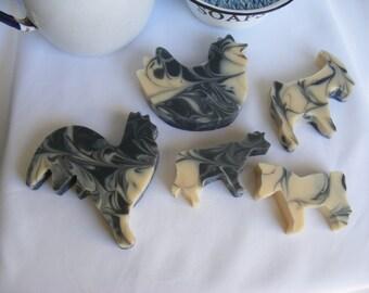 Old McDonalds Farm  Cold Process Soap farm animal shaped