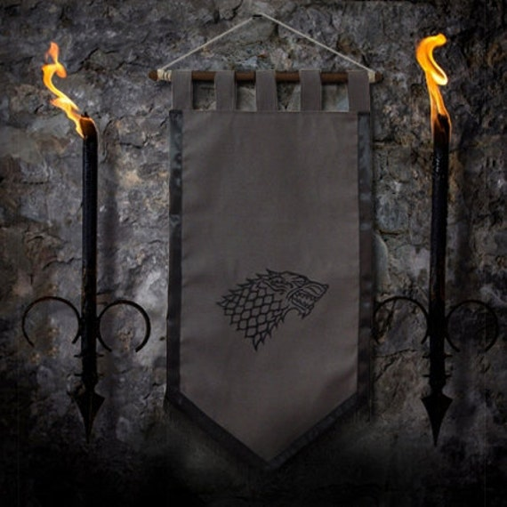Game Of Thrones Flag Curtain House STARK Home Decor Winter