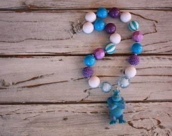 Sulli chunky Bead Necklace, Bubblegum Bead, Gumball Bead, Childrens Neclace, Birthday Gift Idea, Photo Prop