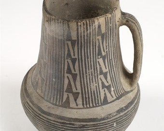 Anasazi Pottery-Authentic Black/White Pitcher c.900 AD-Gorgeous Museum Quality